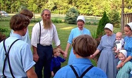 Amish People Praying