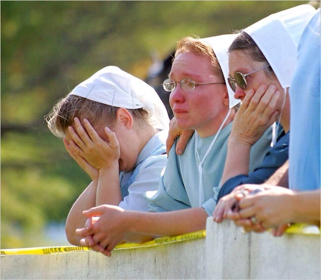 Amish People Crying