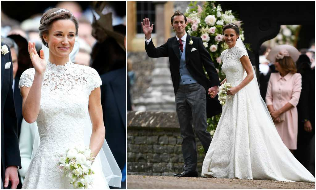 The 30 Most Stunning Celeb Wedding Dresses Of All Time Jolie Clothing Jamie Long Dress With Bespoke Lace That Added To Fine Detail Gown Pippa Was Guaranteed Stand Out From Crowd On Her Big Day