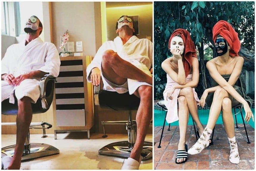 3678ee8d1 25 divertidas fotos de hombres imitando a chicas de Instagram