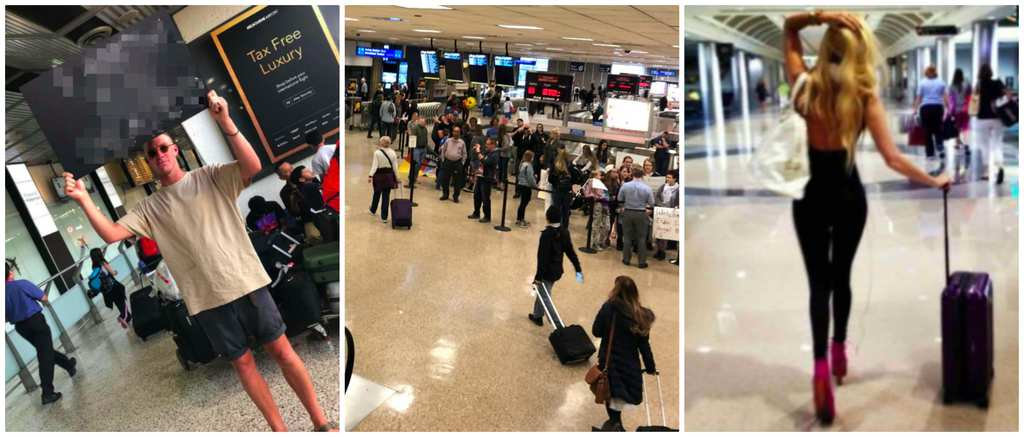Man Gets Revenge On Cheating Girlfriend With Sign At Airport-2534