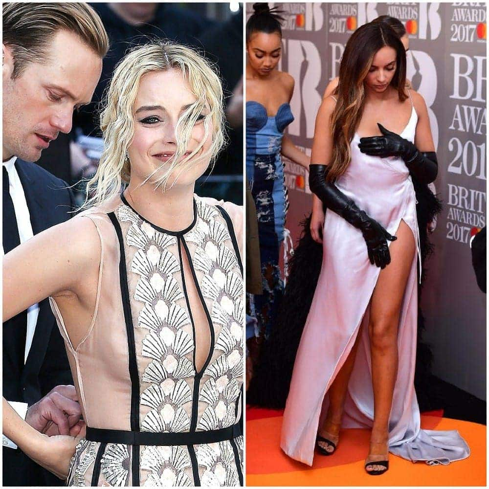 Celebrities Experiencing A Red Carpet Dress Malfunction