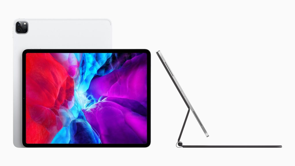 iPad Pro 2020 - front, back, side with keyboard
