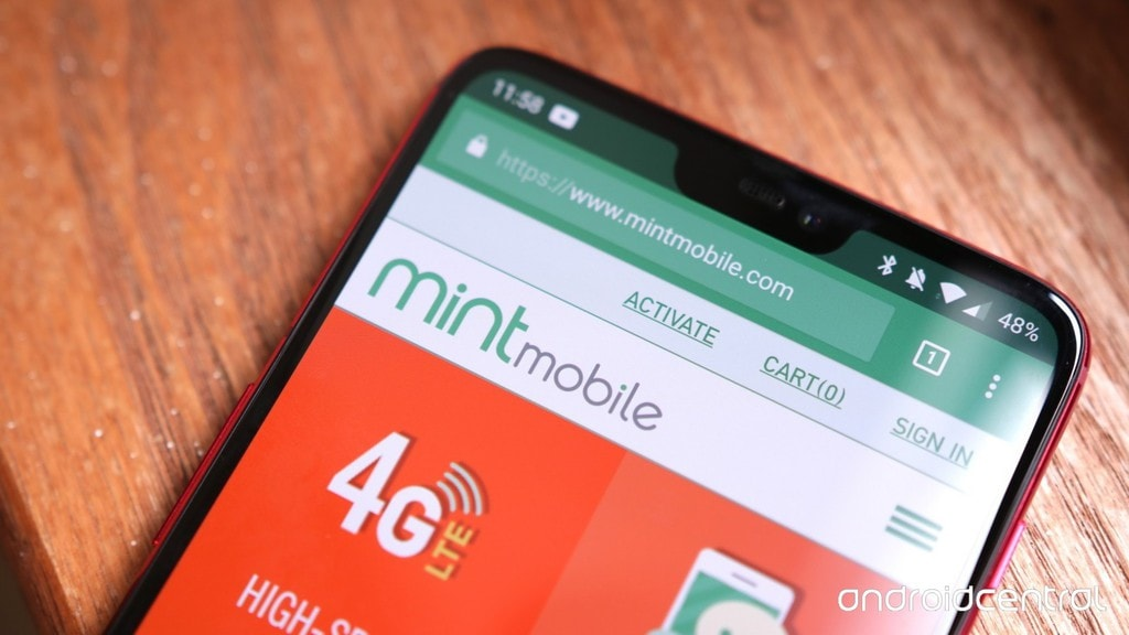 Android phone using Mint Mobile