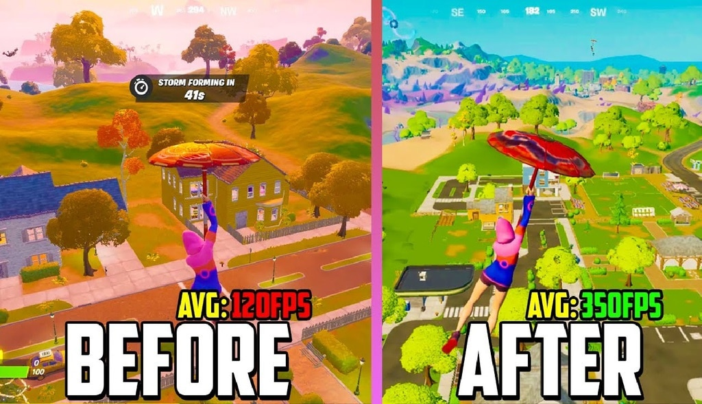 Comparison for Frames per Second and Graphics for Fortnite's Performance Mode