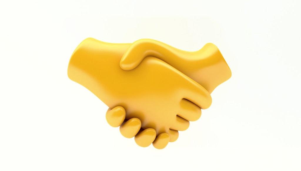 3D Handshake Emoji