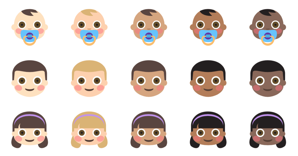 Face emoji varieties