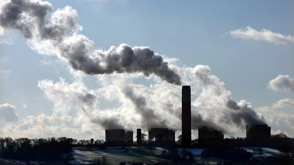 Carbon emissions, factory