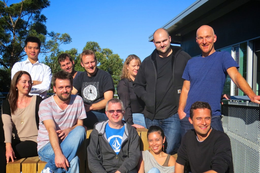 Martin Rushe, Selz founder and Chief Executive Officer, and his team.