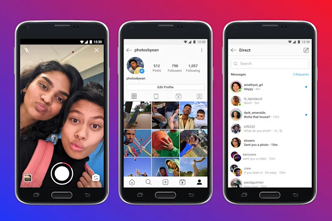 Instagram Lite interface