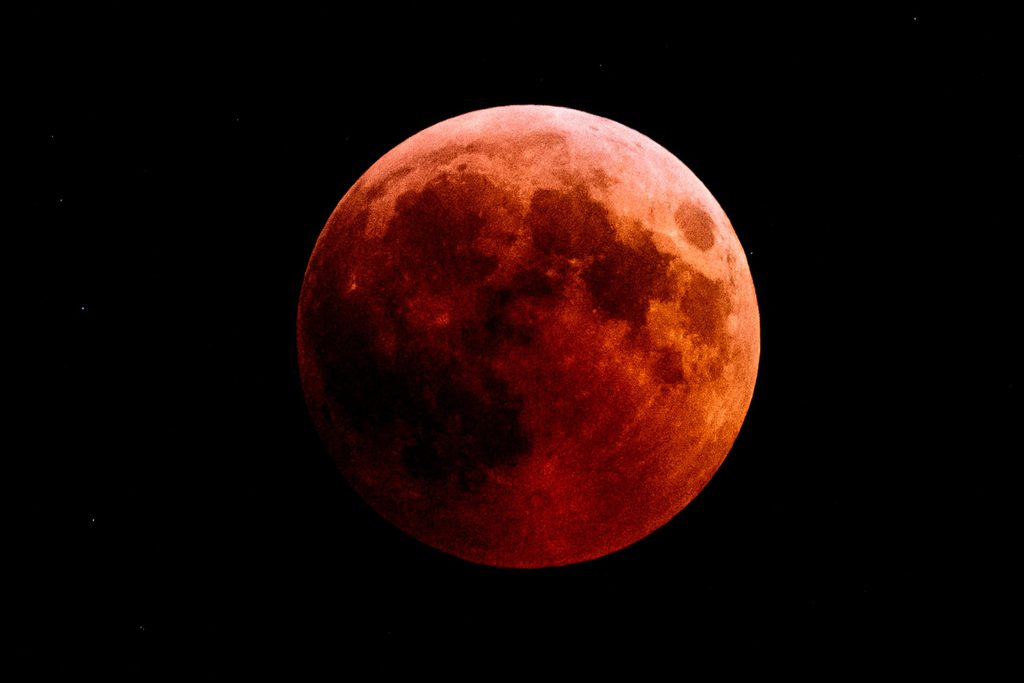 The red moon during a Total Lunar Eclipse